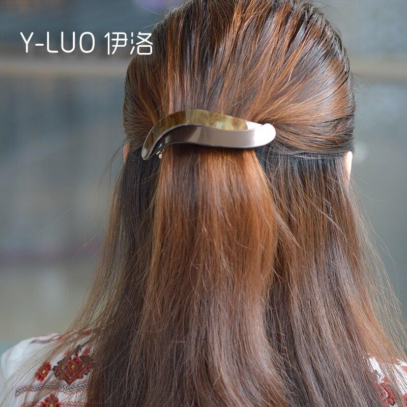 Women headwear twist simple hair clip large hair barrette cute hair accessories