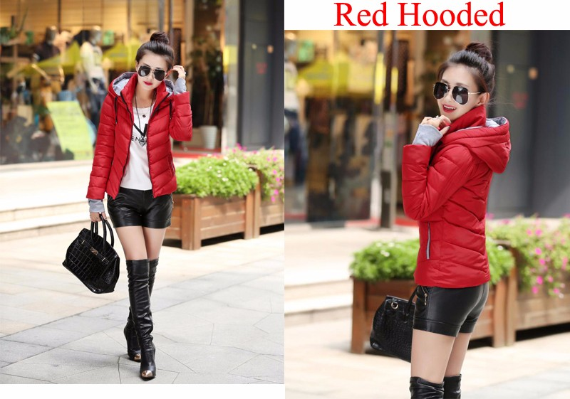 Winter Jacket Women Parkas Thicken Outerwear solid hooded Coats Short 42