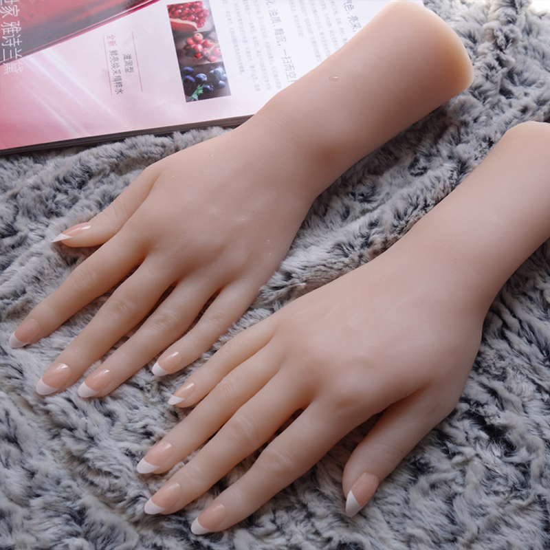 <font><b>2018</b></font> NEW silicone Female hands,<font><b>Sex</b></font> <font><b>Doll</b></font> Real Skin,realistic mannequin hands, ring display Beautiful Hands H08 image