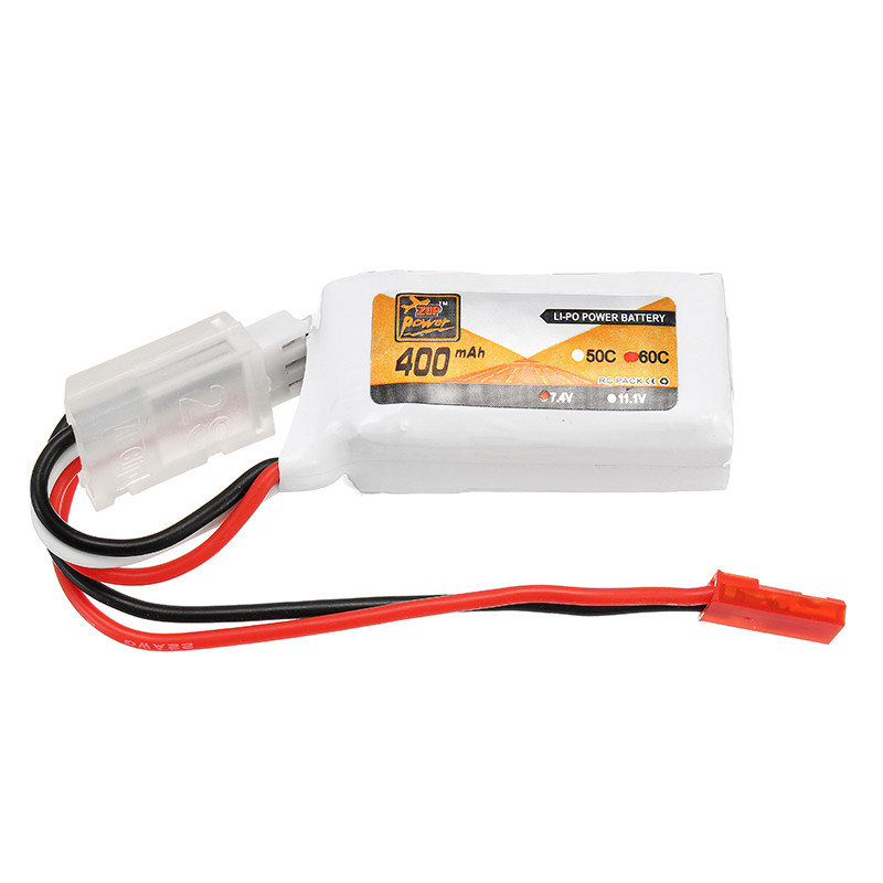 Original ZOP Power 7.4V 400mAh 60C 2S Lipo Battery JST Plug Connector for RC Camera Drones Quadcopter Accessories Spare Parts