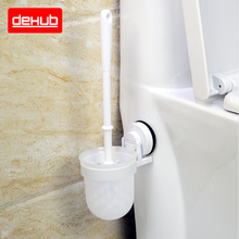Suction Wall Mounted PlasticToilet BrushToilet Cleaning Brush White Plastic Handle WC Brush In White Retail And Wholesale стоимость