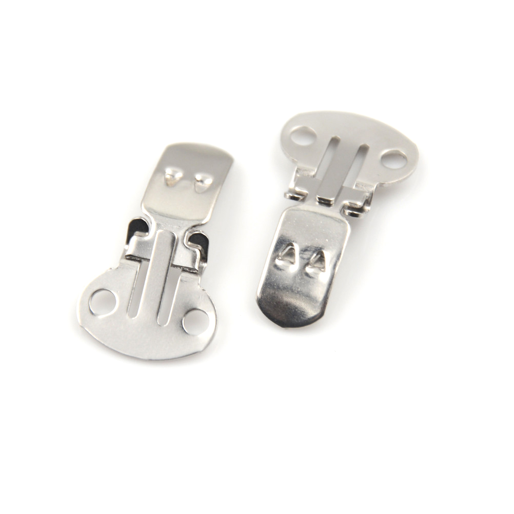 Pack of 40 Stainless Steel Flat Blank Shoe Clips for DIY Fingdings 2 Sizes