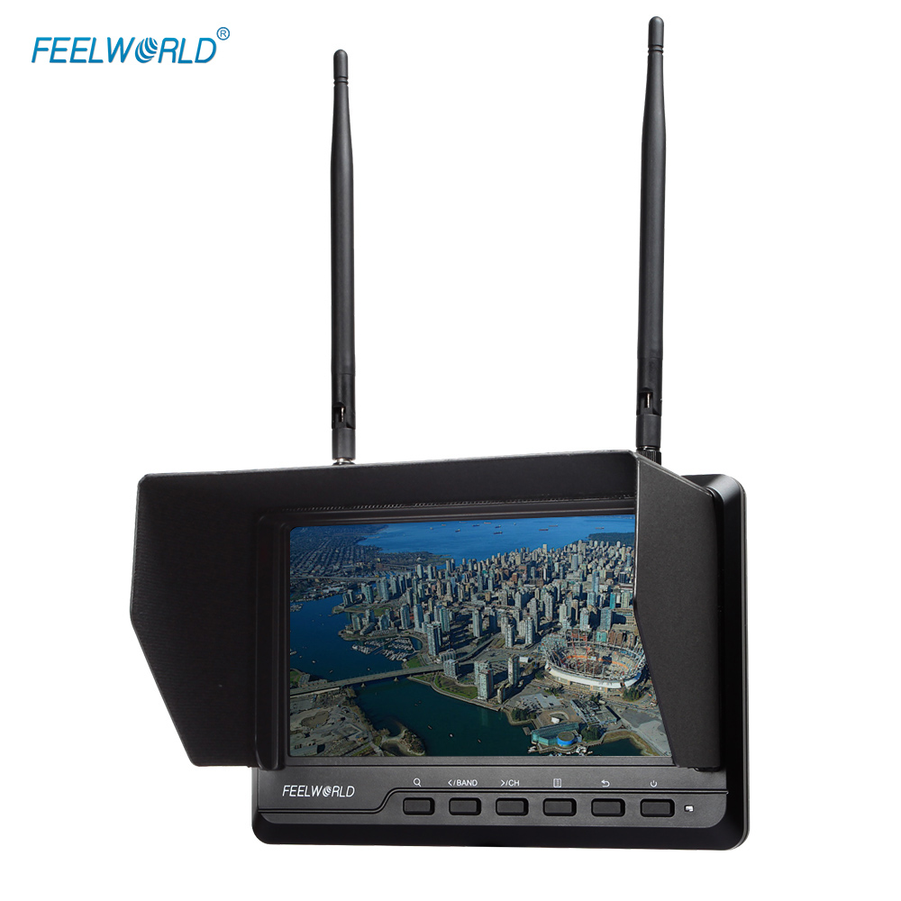 FEELWORLD Built-in Battery FPV720 7 IPS Screen 32 Channels Dual Diversity Receiver Full HD Wireless FPV Monitor