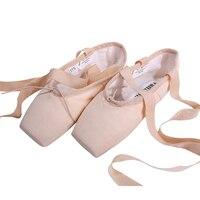 Vanassa Lona Pointe Sapatos com Fita das Mulheres Novas das Senhoras Rosa Professional Ballet Dança Pointe Toe Calçados 31-40 W Frete grátis