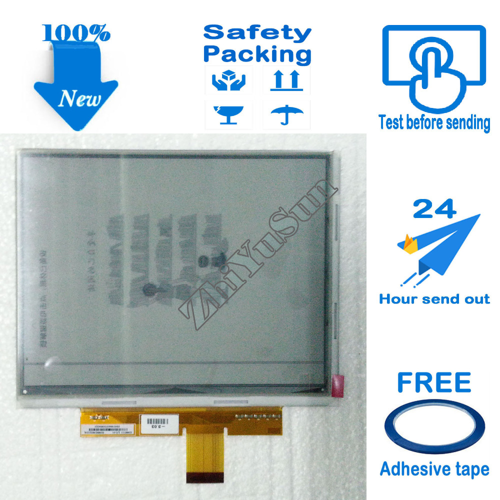 Free Adhesive Tape, 8 PVI ED080TC1(LF) e-ink Display Screen Replacement, eBook Reader Screen Panel,Safety packing,100% New 6 lcd display screen for onyx boox albatros lcd display screen e book ebook reader replacement