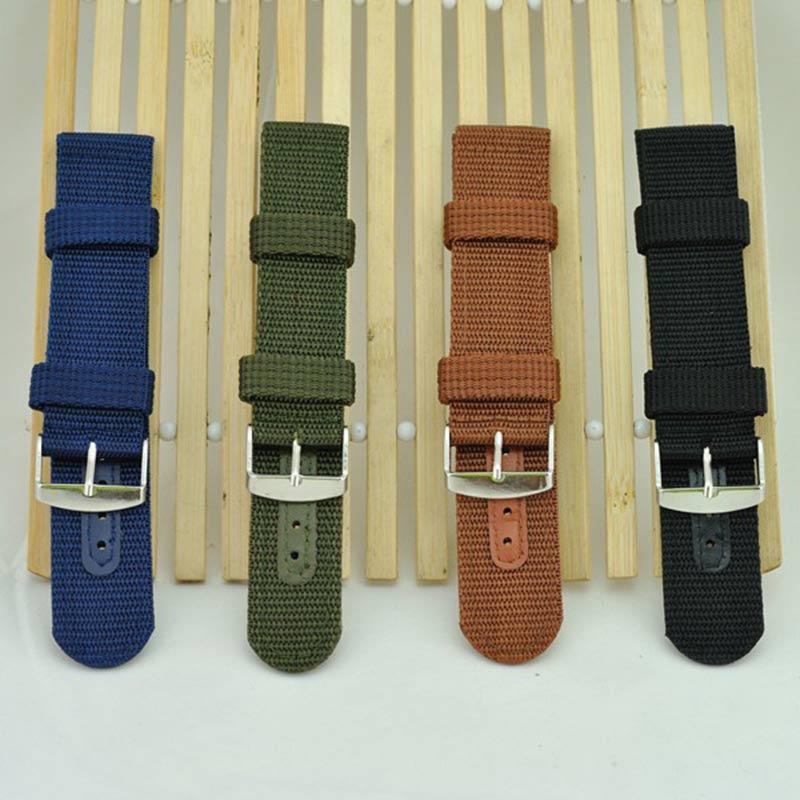 Simple Watch Band Solid Color Strap Nylon Mesh Watchbands 20mm 22mm 24mm Women Men Sport Watches Belt Accessories @17 TT