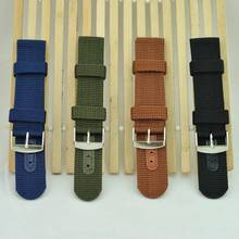 Simple Watch Band Solid Color Strap Nylon Mesh Watchbands 20mm 22mm 24mm Women Men Sport Watches Belt Accessories @17 TT(China)