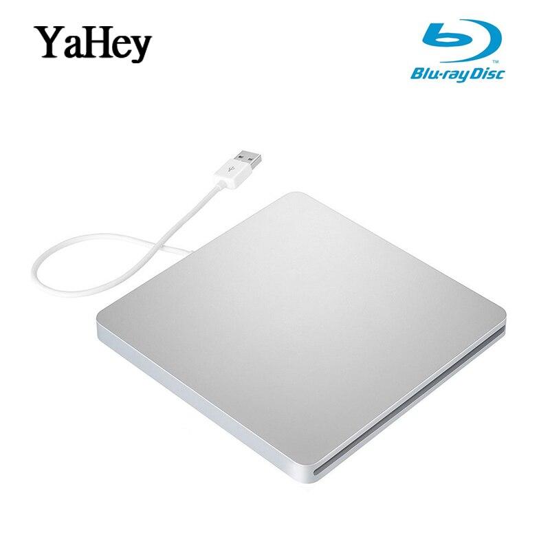 YAHEY disque dur externe USB 3.0 Graveur Bluray BD-RE CD/DVD RW Écrivain Jouer 3D 4 K disque blu-ray Pour Ordinateurs Portables 2019 portable fenêtre