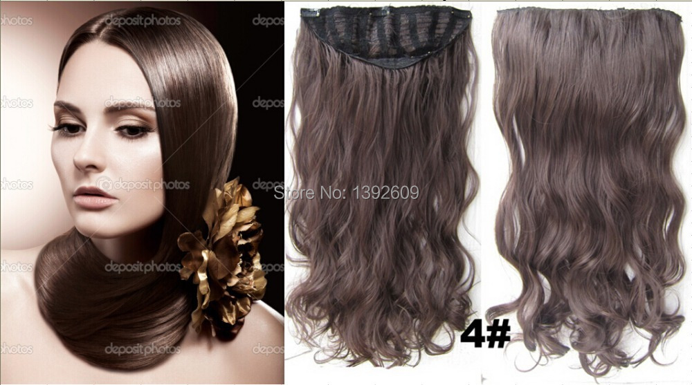 24inch 130g Long Curly Hair Extension Clip In Hair Extensions 7