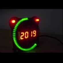 Elektronische uhr kit Digital rohr elektronische uhr wecker rotierenden LED single-chip-mikrocomputer DIY kit Ds1302 uhr
