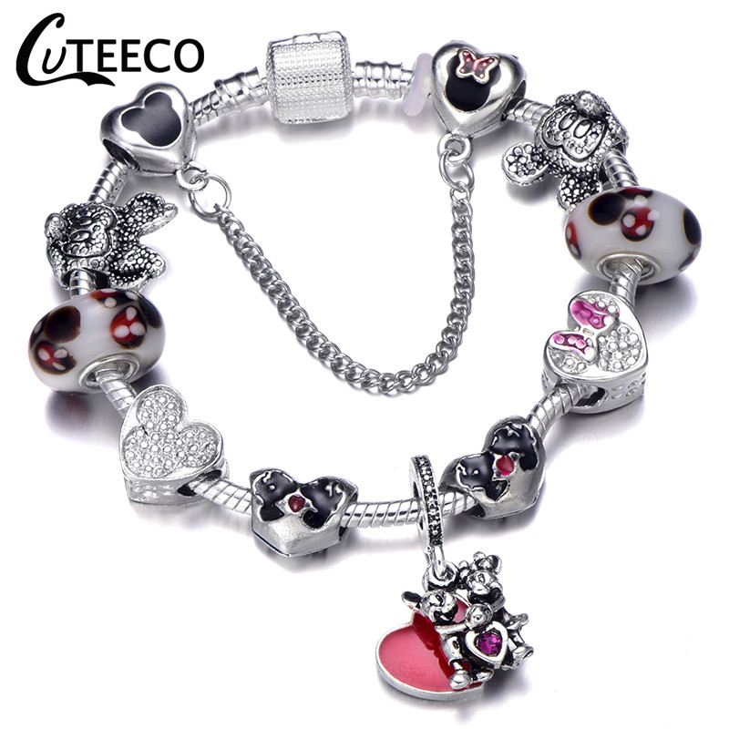 Authentic 925 sterling silver Bracelet Charms European Beads Jewelry Lots Chain