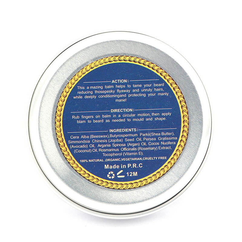 Blue ZOO Natural Beard Oil Balm Moustache Styling Beeswax