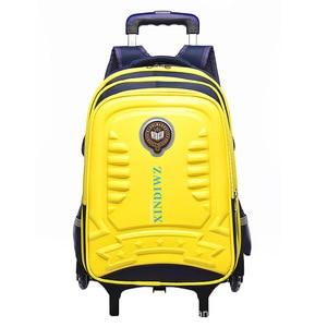 Детские школьные сумки на колесиках, детские рюкзаки с колесиками, багаж для девочек и мальчиков, рюкзак Escolar, школьная сумка