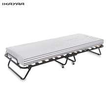 IKAYAA US Stock Single Folding Guest Bed Cot with Mattress & Cover 110kg Capacity with SGS Intertek Test Bedroom Furniture