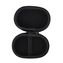 Fashion Portable Travel Shockproof Earphone Headphone Box Earbud Carrying Storage Bag Pouch Hard Case Black