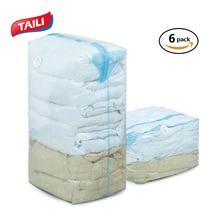 6PCS Three-Dimensional Vacuum Bags For Quilt Bedding Cube Space Saver Storage Bag Wardrobe Closet Organizer No Leak
