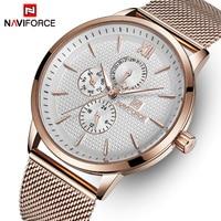 NAVIFORCE למעלה מותג יוקרה שעונים גברים נירוסטה שעונים דקים במיוחד זכר תאריך קוורץ שעון ספורט שעון Relogio Masculino