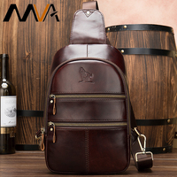 MVA männer Tasche Leder Echten Schlinge Tasche Männer Umhängetasche/Schulter Tasche für Männer Messenger/Mann Taschen Reise männlichen Brust Taille Pack 8779 auf