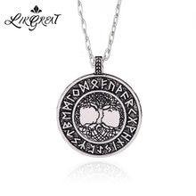 LIKGREAT – collier avec pendentif arbre de vie Yggdrasil, amulette Rune Viking, Talisman nordique, bijoux, cordon, chaîne, accessoires, cadeau
