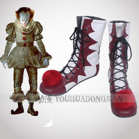Halloween Movie Stephen King IT Cosplay Shoes The Clown Pennywise Boots Halloween Cosplay shoes Fancy Costume