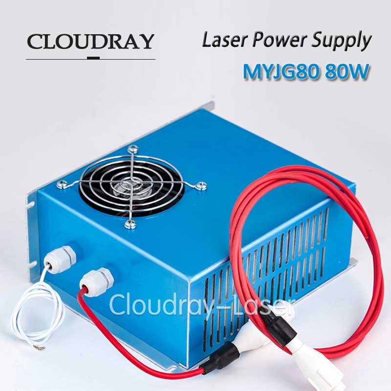 Cloudray 80W Co2 Laser Power Supply 47-440HZ AC220V/AC110V For CO2 Laser Engraving Cutting Machine CE Certificate MYJG-80 cloudray laser power supply 80w ac110v ac220v adjustable for yueming engraving cutting machine ce certificate