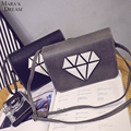 Mara's Dream Fashion Women Cover Small Handbag One Single Shoulder Woman Messenger Bags Print Diamond Leather Bag Lady Flap Bag