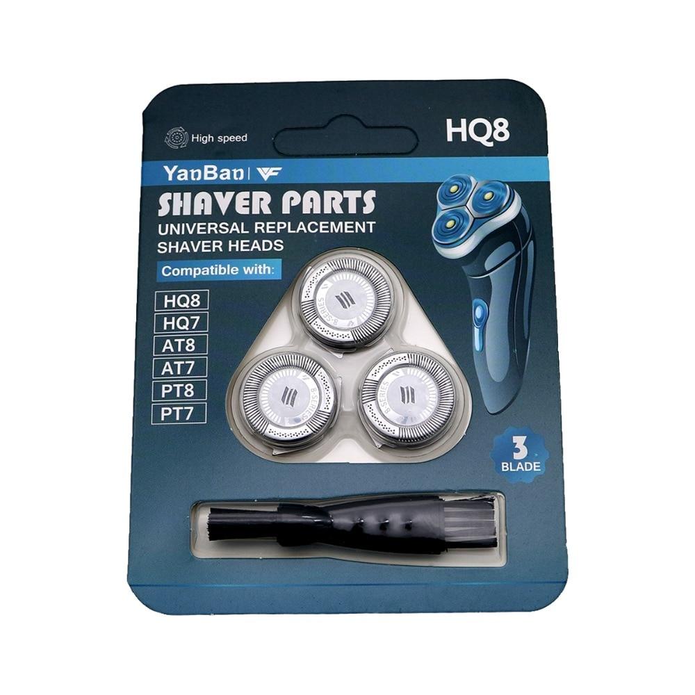 3Pcs Shaver Heads For Philips Norelco HQ8 Spectra Sensotec Precision HQ6073 HQ7120 PT735 HQ8885 HQ8893 HQ7760 HQ7762 AT890 PT860
