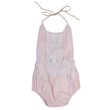 Pink Lace Romper 2017 Summer Newborn Baby Girl Rompers Backless Halter Jumpsuit Toddler Kids Clothes Outfits