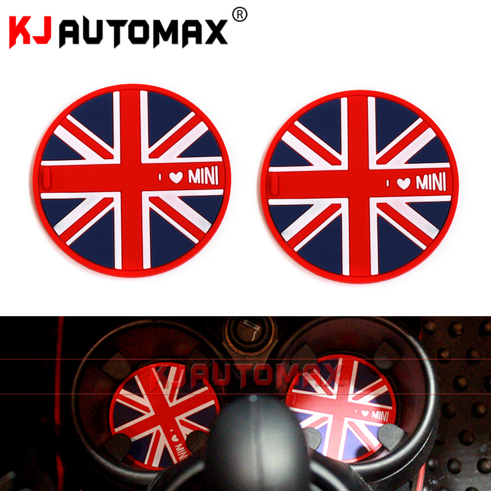For Mini cooper accessories R50 R53 R55 R56 R57 R58 R59 R60F55 F56 Silicone MATS NON-SLIP Pads one S Clubman Countryman Stickers