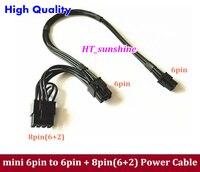50 шт. ~ 100 шт. Бесплатная доставка Mac Pro Mini 6pin к 6pin и 8pin (6 + 2) pci e двойной Мощность кабель видео Графическая карта gtx285 8800gt