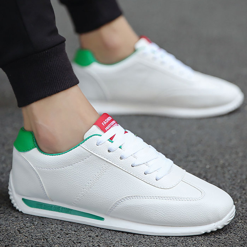 Shoes Men Casual White Sneakers Man Autumn Unisex Sneakers Fashion 2020 New Leather Sneakers Boys Sport Shoes|Men's Vulcanize Shoes| |  - title=