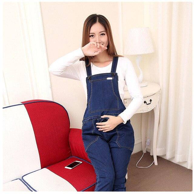 79256093a Femenino Pantalones de Vaqueros para mujeres embarazadas Maternidad Monos  Denim Pantalones Otoño Invierno traje de embarazo