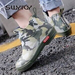 Image 1 - Swyovy Botas de lluvia impermeables para mujer, zapatos de agua, botas de agua para mujer, 2018