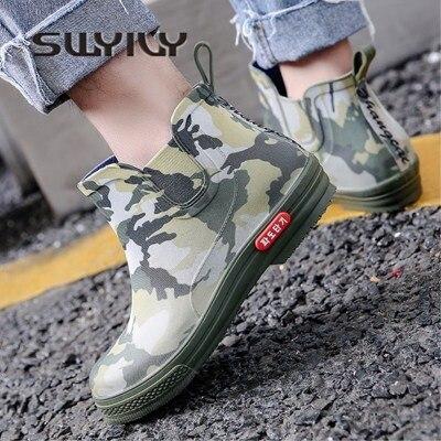 Swyovy Botas de lluvia impermeables para mujer, zapatos de agua, botas de agua para mujer, 2018