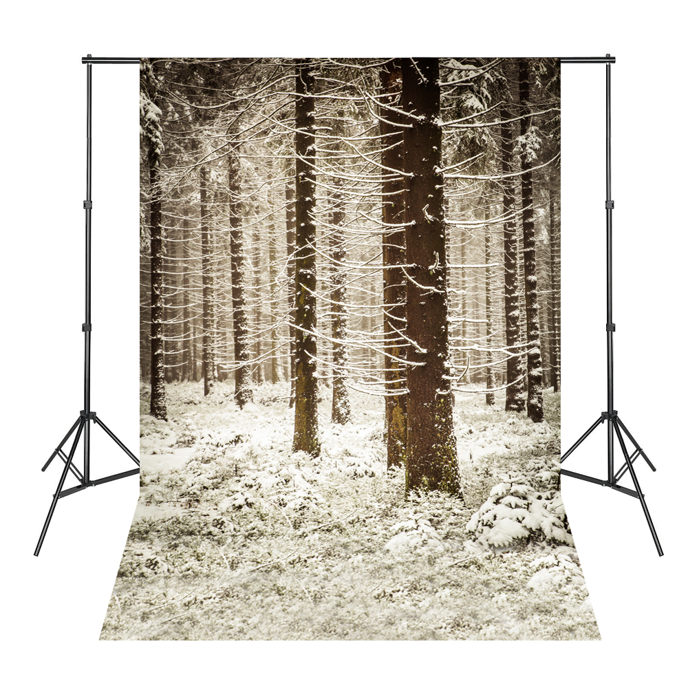 Weißer Schnee Forest Trees Photo Studio Photography Backdrops Vinyl - Kamera und Foto - Foto 5