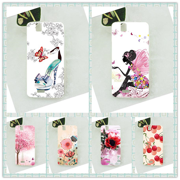 Patterns Painting Tpu Cover For FLY IQ4503 Era Life 6 IQ 4503 Case Perfect Pink Tree Design For Fly iq4503 soft TPU Cover Case