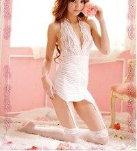 Sex Lingerie White Underwear Pajamas Womens Sheer Sexy Lingerie Dress Underwear Nightwear Sleepwear Babydoll G String