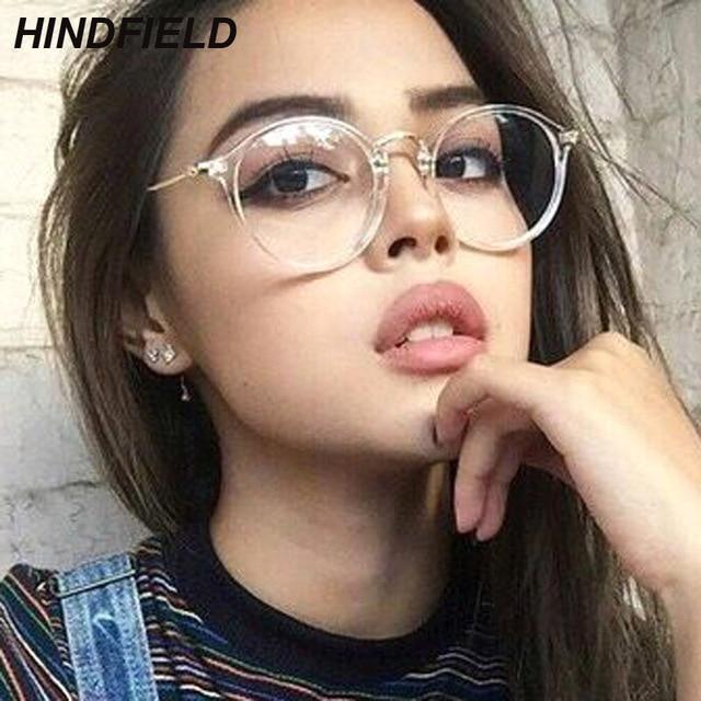 2018 New Effacer Lunettes Femmes Lunettes Rondes Cadre Transparent  Spectacle Cadres Faux Lunettes Femme oculos de 070ca8b20d88