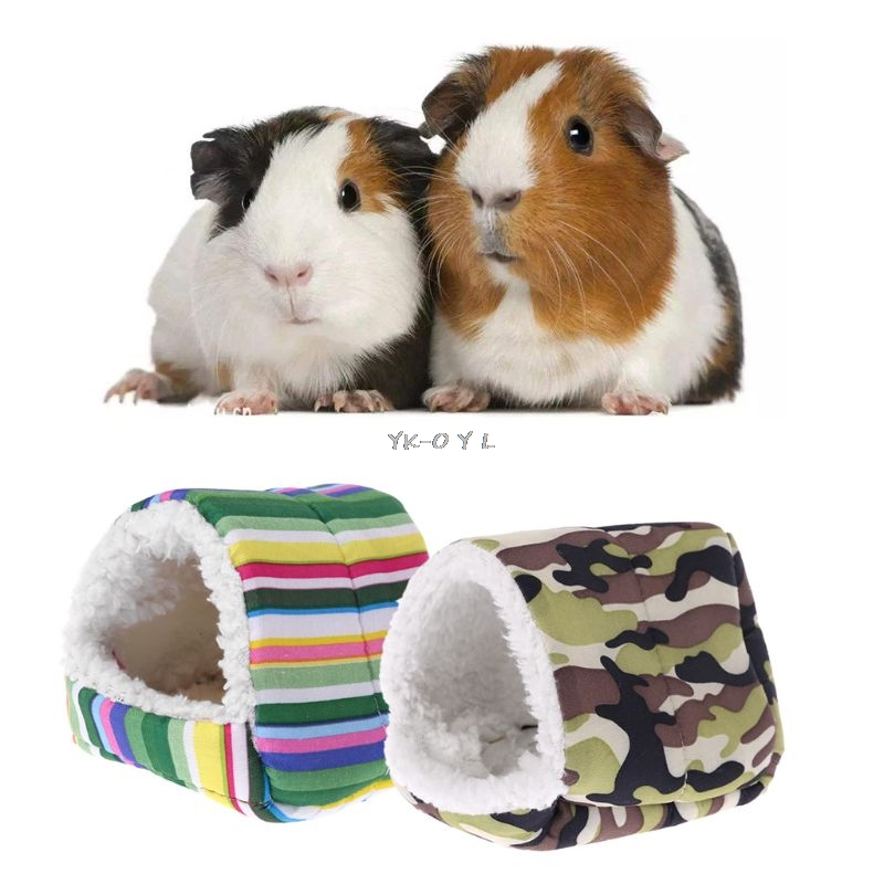 Fleece Hamster Cage Guinea Pig Sleeping Mat Bed Warm Pad Small Animal House