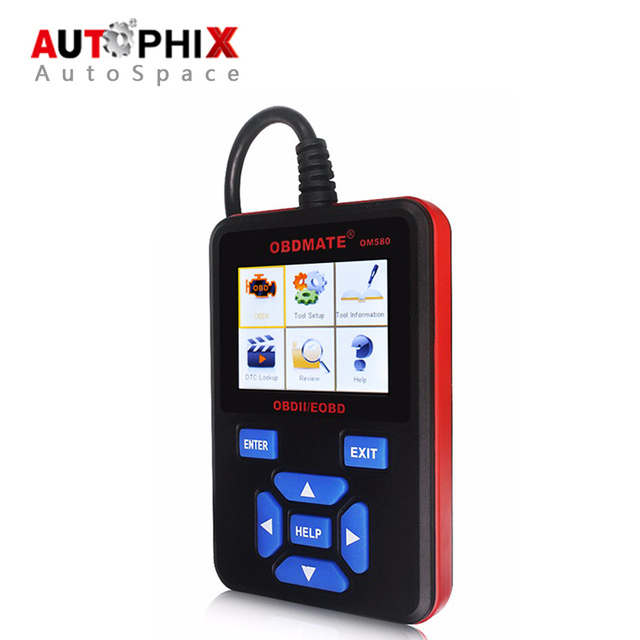 100% Original AUTOPHIX OBDMATE OM580 OBD OBD2 CAN-BUS leitor de Código de Automóvel Earse Leitor Scanner Ferramenta De Diagnóstico para Audi Ford BMW Novo