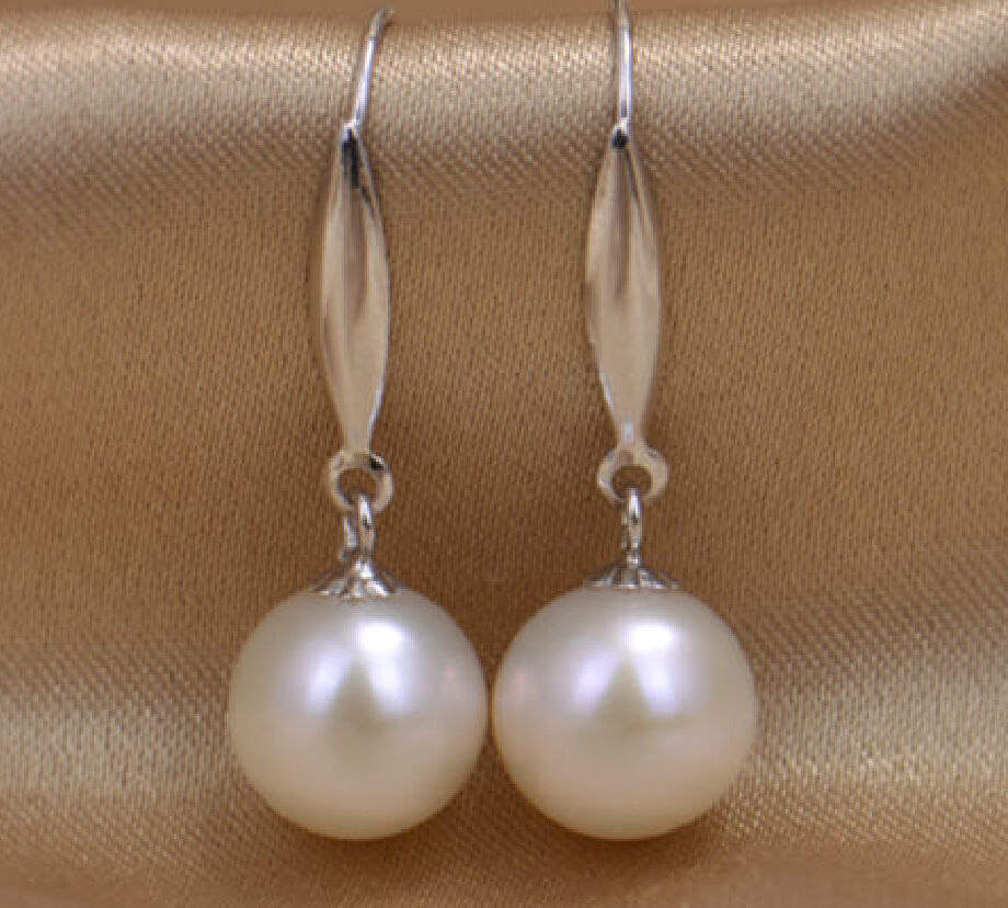 REAL CHARMING 10-11 MM AAA AKOYA NATURAL PEARL EARRING 14K/20 WHITE GOLD HOOK @REAL CHARMING 10-11 MM AAA AKOYA NATURAL PEARL EARRING 14K/20 WHITE GOLD HOOK @