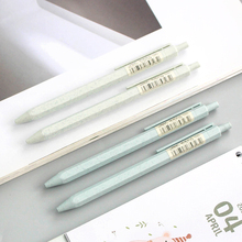 0,5 мм механический карандаш коричневый% 2C синий% 2C зеленый шестиугольный цилиндры автоматический черчение карандаш пшеница солома карандаш для письма рисования