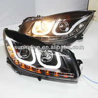 2010 2013 Year for Buick Verano Regal Opel insignia LED U Style Angel Eyes Head Light LDV2