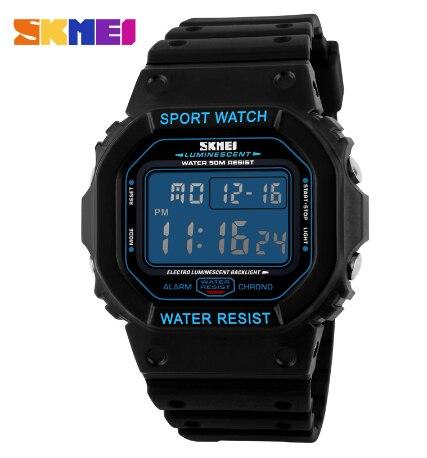 Skmei marca de relógios Militares LED Digital de Mergulho Relógio dos homens 50 M Moda Relógio de Pulso dos homens Do Esporte Ao Ar Livre - 2