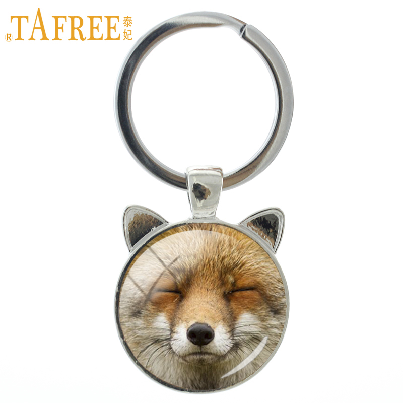 TAFREE 2018 New Content Fox Keychain Cute Fox Animal Key Chain Ring Holder Fashion Keyring Lovely Men Women Gifts Jewelry CN725
