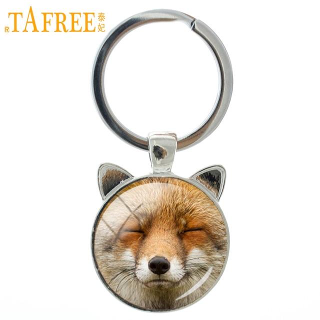 TAFREE 2018 Novos Conteúdos Raposa Keychain Bonito Fox Animal Titular do Anel Chave de Cadeia Chaveiro Moda Linda Presentes Das Mulheres Dos Homens de Jóias CN725