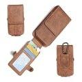 Vertical loop belt clip holster case teléfono bolsa bolsa para el iphone 7 más 6 6 S Teléfonos móviles Más Universal Casos de la Cubierta Del Tirón Ranura para Tarjeta