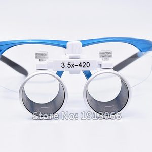 Image 4 - באיכות גבוהה קידום 3.5X420mm משקפת שיניים זכוכית מגדלת שיניים זכוכית מגדלת אופטית זכוכית LED נייד ראש אור מנורת עבור שיניים