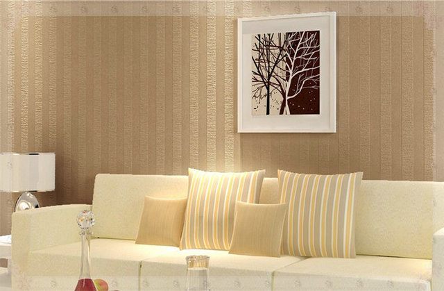 Simple Modern Non Woven Stripes Wallpaper Pvc Embossed Texture Wall Covering For Living Room Background Green Bat