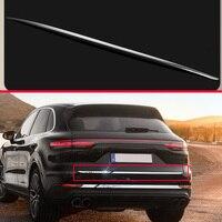 For Porsche cayenne PO536 2018 2019 ABS Chrome Tail Gate Door Cover Trim Rear Trunk Molding Bezel Styling Sticker Garnish